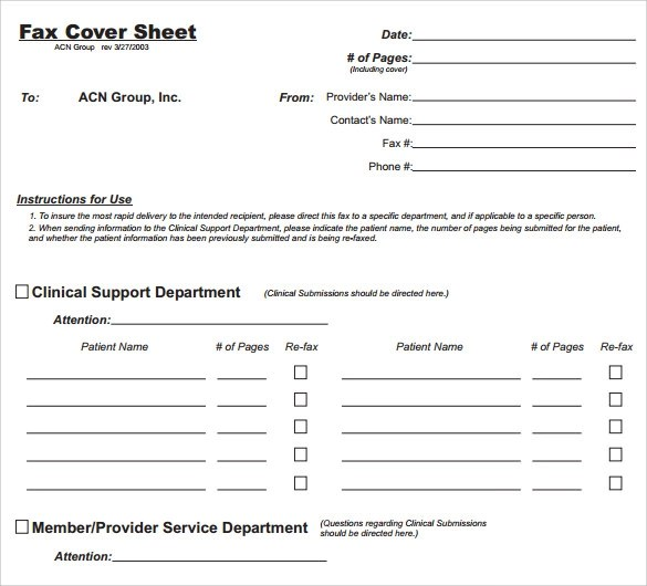 Sample General Fax Cover Sheet - 10+ Documents In PDF, Word - sample cute fax cover sheet