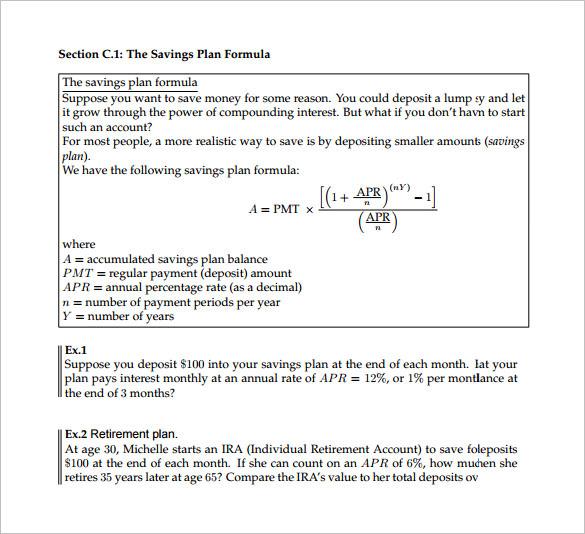 savings formula - Josemulinohouse