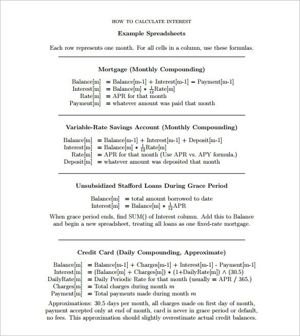 Sample Mortgage calculator Template - 8+ Documents in PDF , Word - mortgage payment calculator template