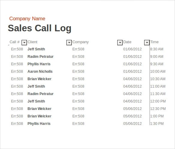 Sample Report In Excel Track Accounts Receivable With Invoice - sales call report template