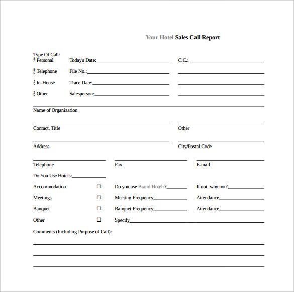 sales call sheet template