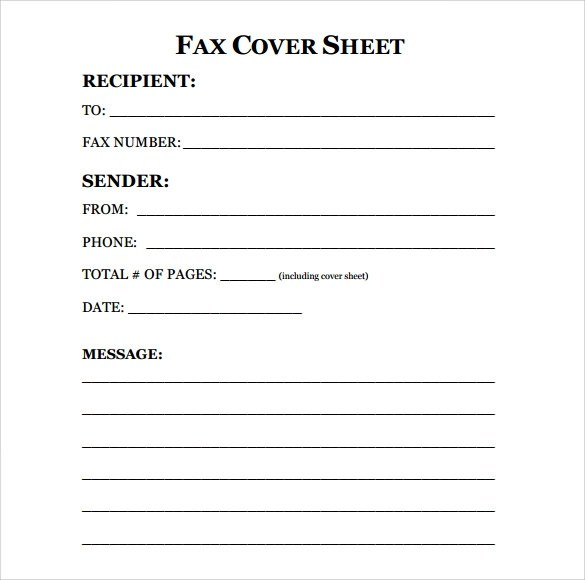 fax cover sheet printable free - Klisethegreaterchurch - Blank Fax Cover Sheet