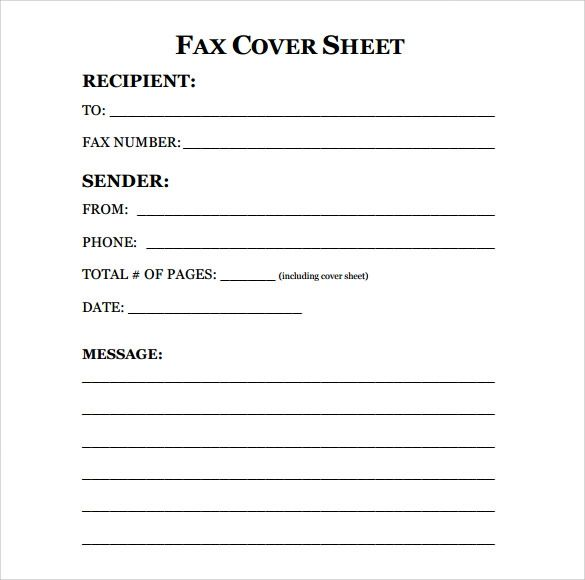 irs fax cover letter