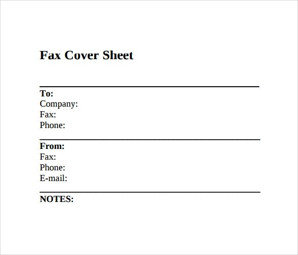Sample Fax Cover Sheet - 9+ Examples \ Format - fax sheet example