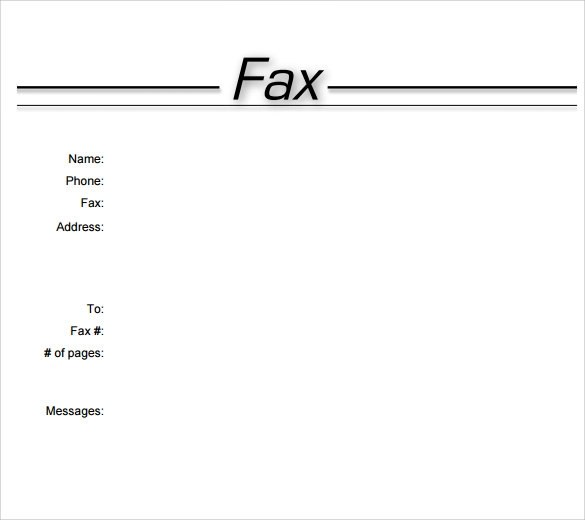 11+ Sample Fax Cover Sheets Sample Templates