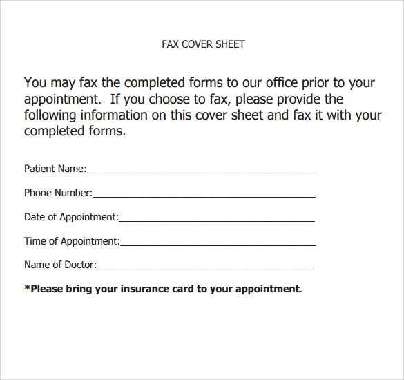 9+ Sample Office Fax Cover Sheets Sample Templates