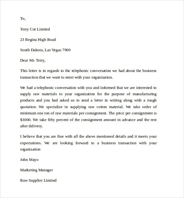 Business Letter Template - 11 + Free Documents to Download in PDF, Word