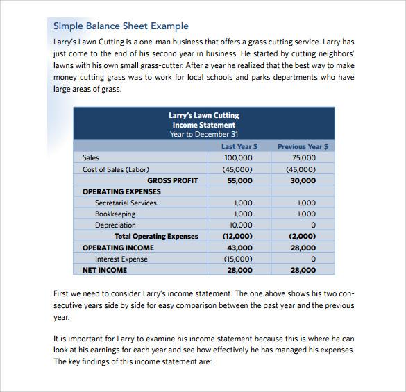 10+ Balance Sheet Samples Sample Templates