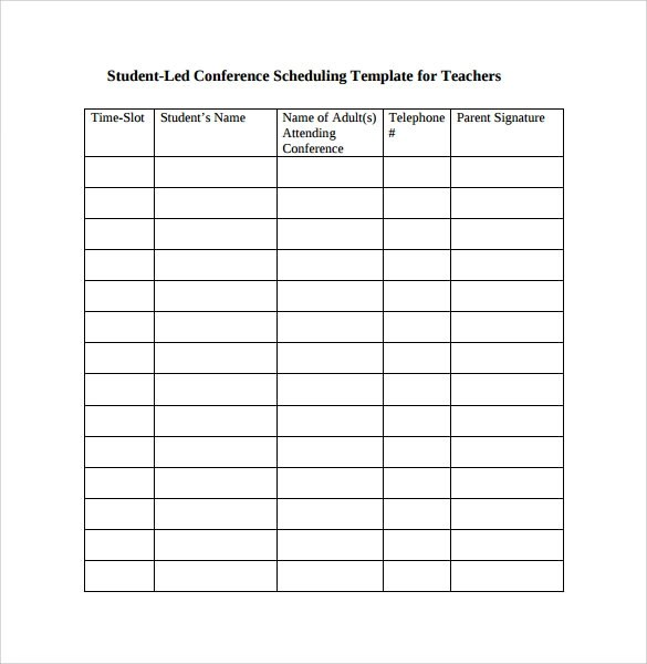 Sample Conference Schedule 16 Documents In PDF Word - oukasinfo - conference schedule template