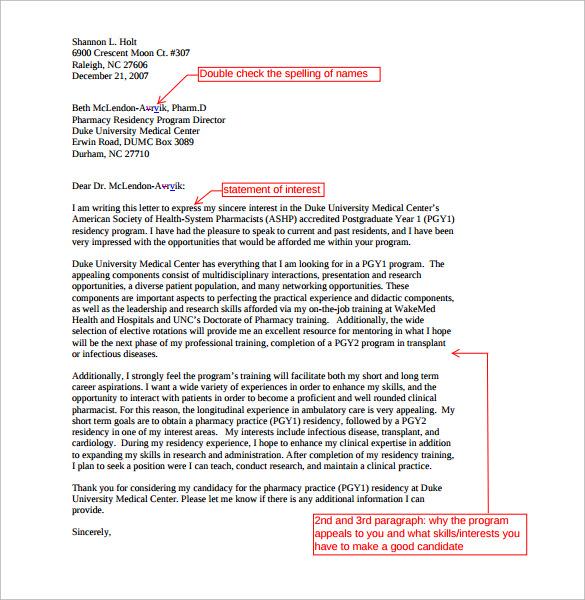 15+ Pharmacist Letters \u2013 Free Samples , Examples  Format Sample - pharmacy letter