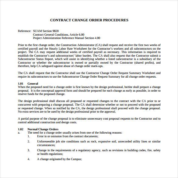 Change Order Template kicksneakers - change order template