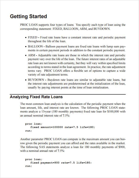 10+ Balloon Loan Calculator Samples Sample Templates