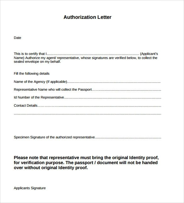 Example of Authorization Letter - 7+ Download Download in Word , PDF