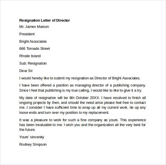 Resignation Letter Format For Software Engineer – Sample Resignation Letter for Software Engineer