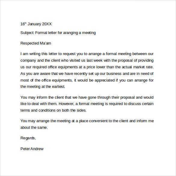 Formal Letter Format - 9+ Free Samples, Examples  Formats - formal letter