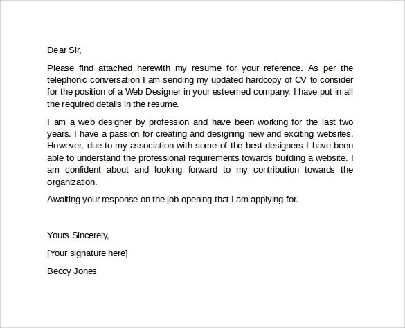 10 Professional Cover Letter Template Examples to Download Sample