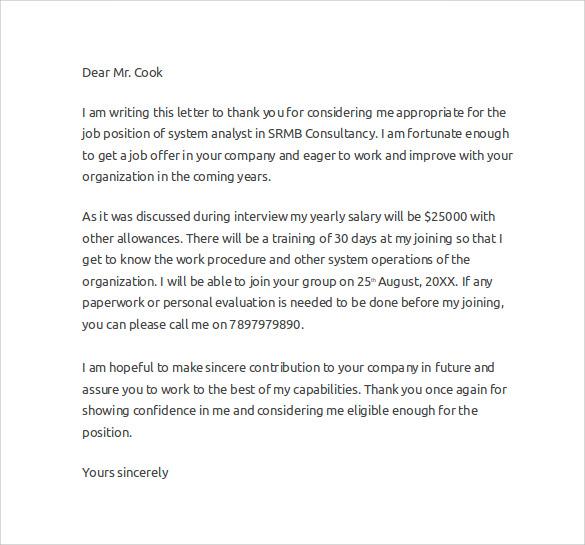 Job Offer Letter Binding