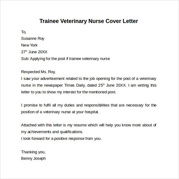 cover letter to apply for job
