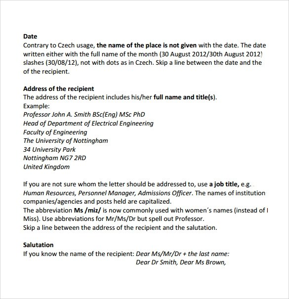 professional business letter sample - Oylekalakaari - professional business letter format