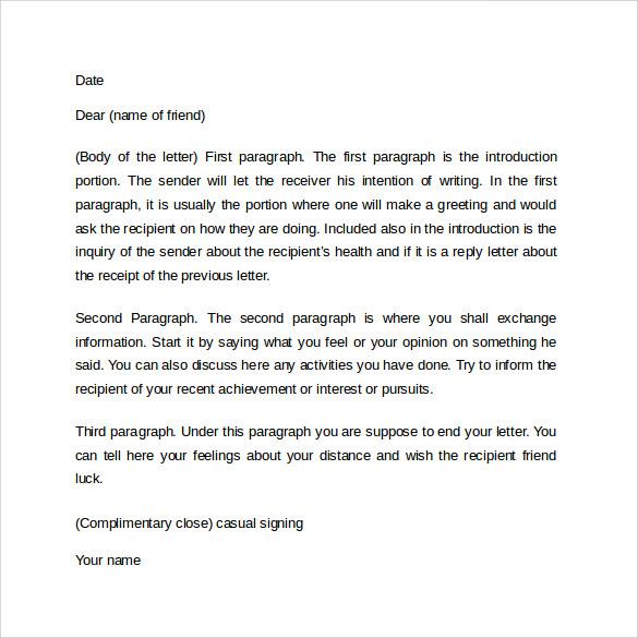 Friendly Letter - 9+ Samples , Examples \ Formats - birthday invitation letter sample