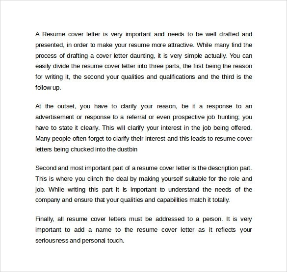 13 Resume Cover Letters \u2013 Samples , Examples  Formats Sample - example of resume letter