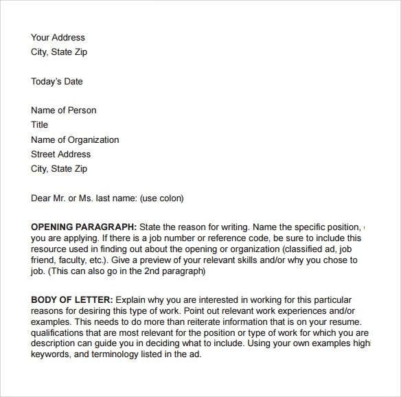 9 Business Cover Letters \u2013 Samples , Examples  Formats Sample - business cover letters