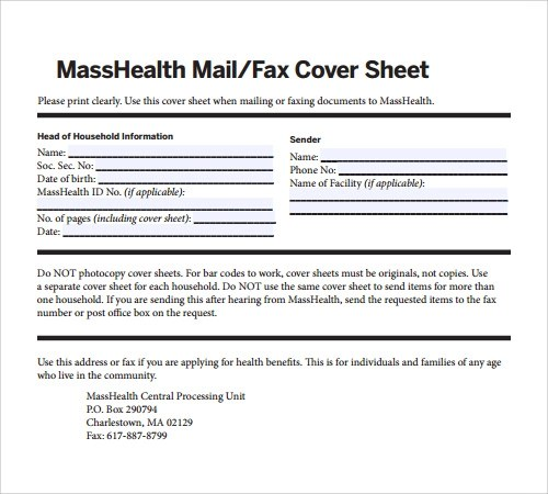 Sample Cover Letter For Fax – Sample Fax Letter
