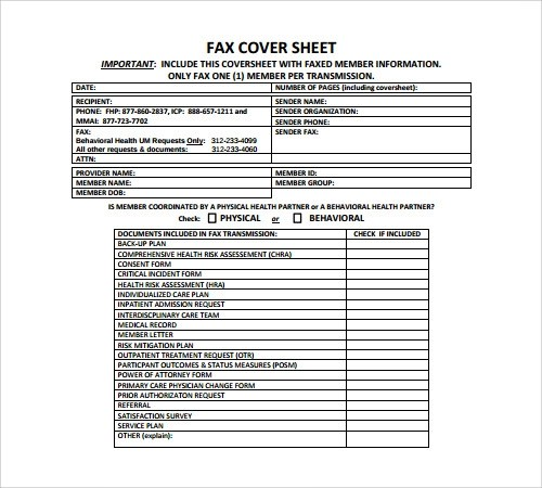 Printable Confidential Fax Cover Sheet 10 Confidential Fax Cover