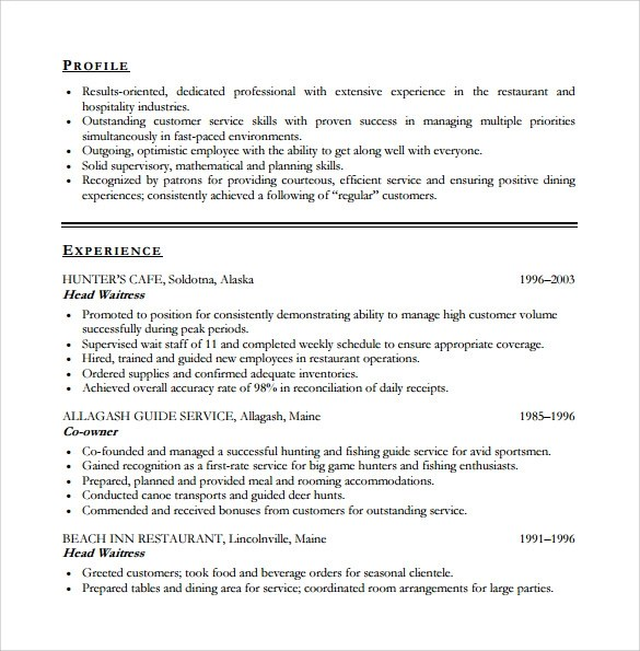 Sample Customer Service Resume - 10+ Download Free Documents in PDF