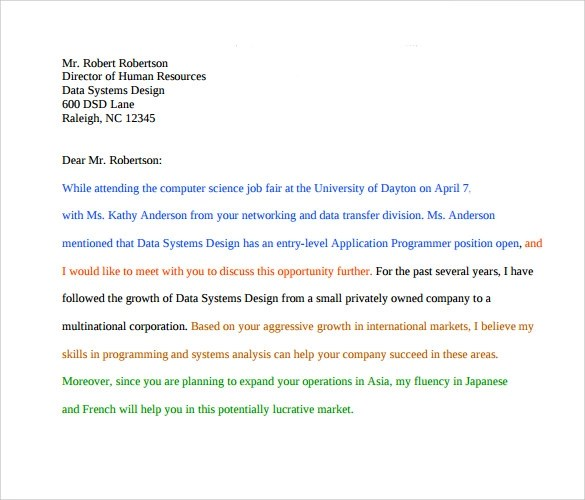 11+ Job Application Cover Letters \u2013 Samples, Examples  Format