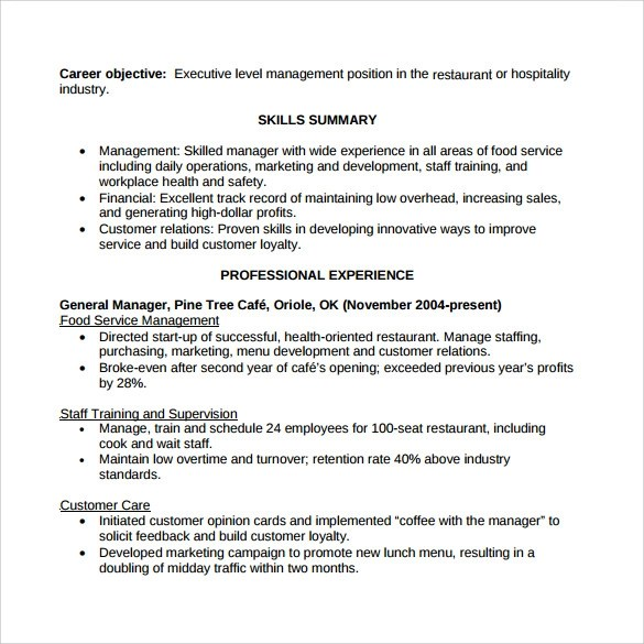 functional accounting resume contemporary ged essay practice test - restaurant resume skills