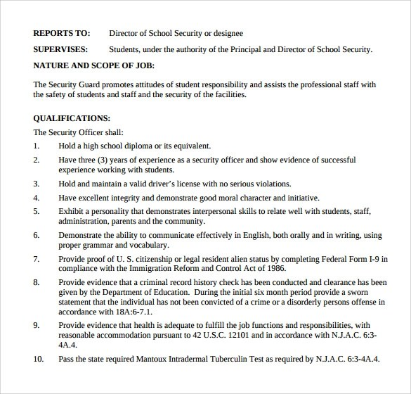 Security Guard Resume Sample Resume Genius Sample Security Guard Resume 7 Free Download Free
