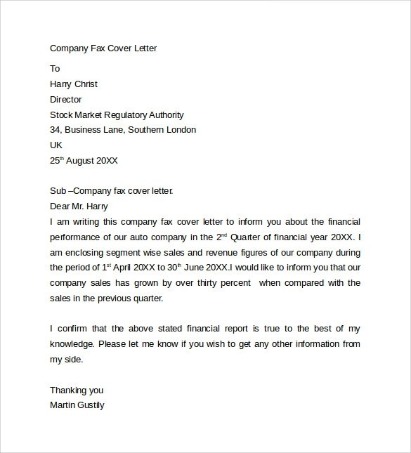 10 Fax Cover Letter Templates \u2013 Samples, Examples  Format Sample - example of a fax cover sheet