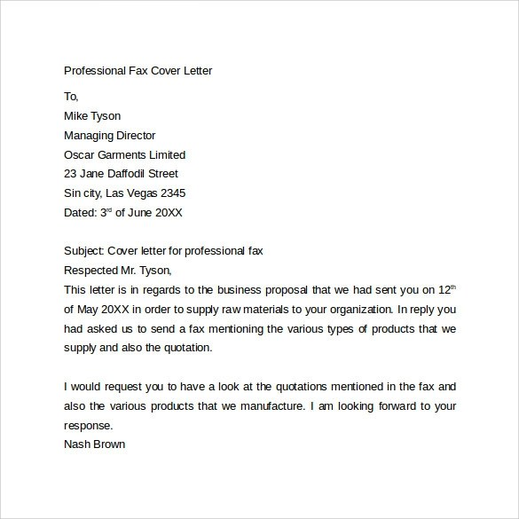Fax Cover Letter - 9+ Free Samples, Examples \ Format - sample professional fax cover sheet template