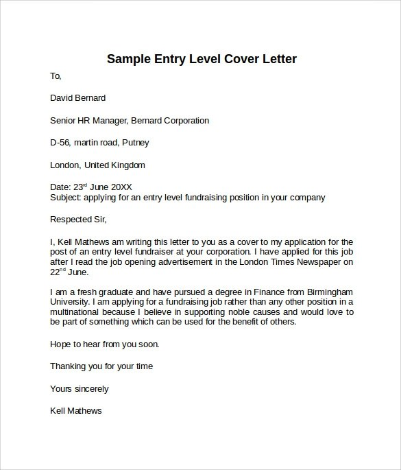 Simple Cover Letter You Now Have A Presentable If You Want To