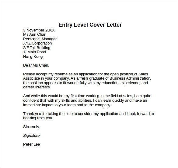 a proper cover letters