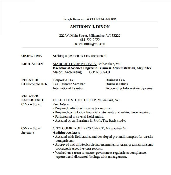 13 Amazing Accountant Resume Templates to Download Sample Templates