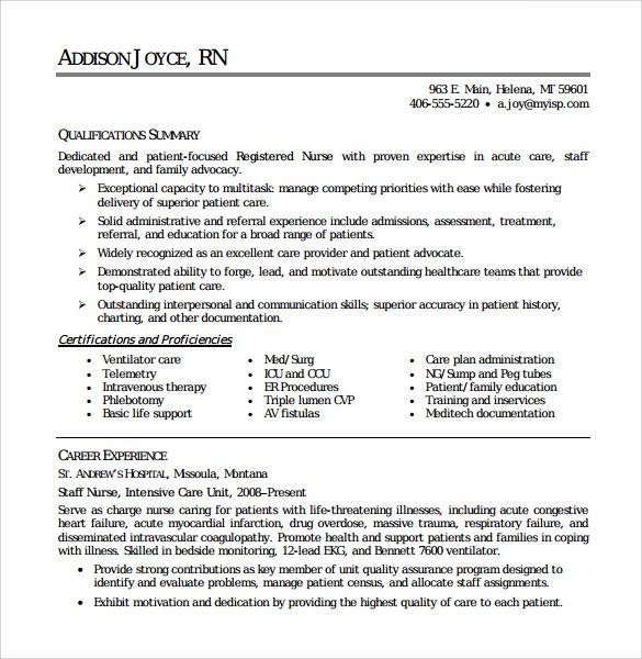 new nurse resume templates