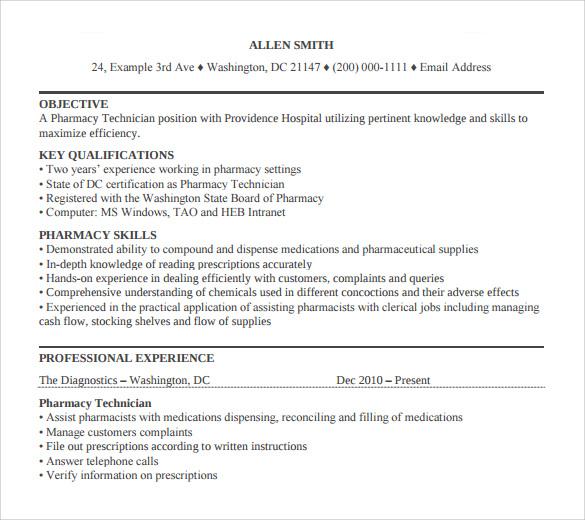 Pharmacy Technician Letter - 13 + Samples, Examples, Format - generic resume cover lettercover letter for pharmacy technician