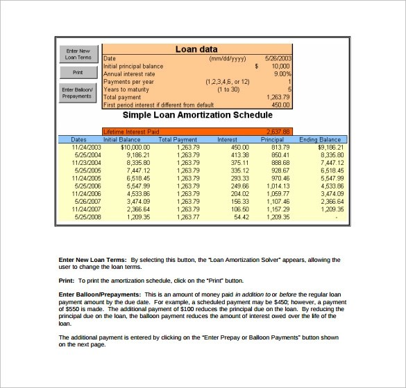 9 Loan Amortization Calculator Templates to Download Sample Templates - amortization calculator with dates