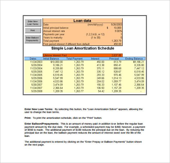 Sample Loan Amortization Calculator - 8+ Free Documents in PDF