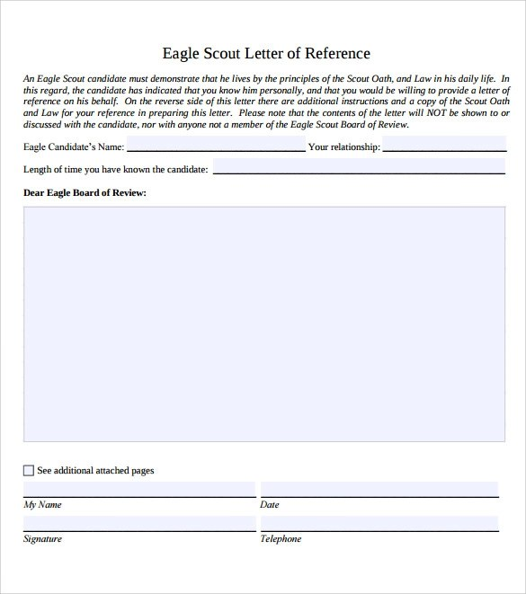 10 Eagle Scout Letter of Recommendation to Download for Free - eagle scout letter of recommendation