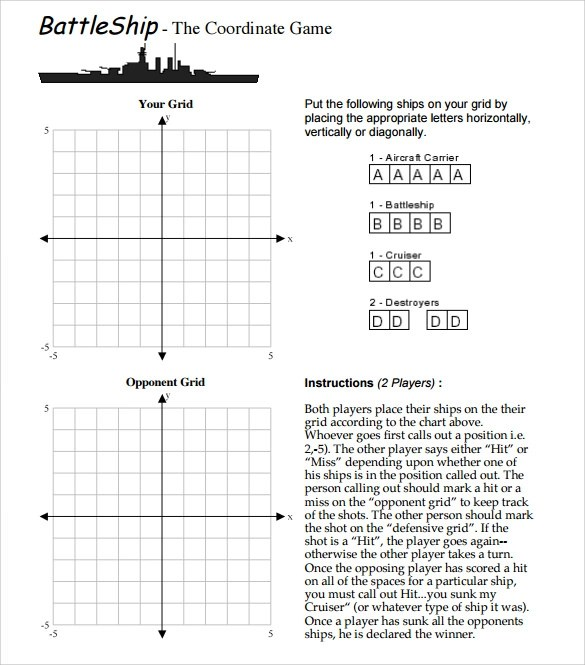 Battleship Game Samples, Examples, Templates - 8+ Documents in Word