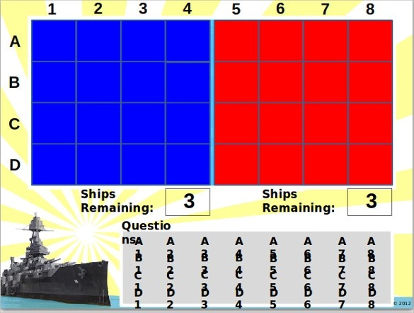 Battleship Powerpoint Template 8 Battleship Game Sles
