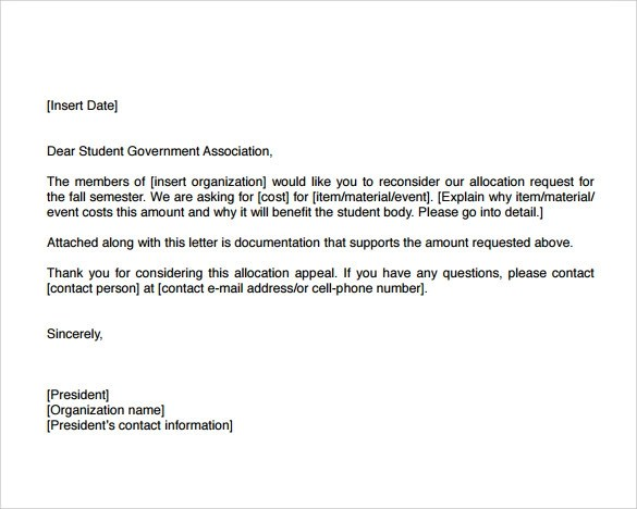 8 Example of Appeal Letter Templates to Download for Free Sample