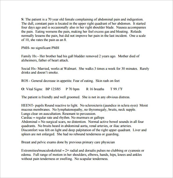 soapnote - Blackdgfitness - soap note example