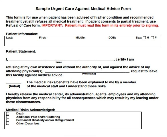 Medical Release Form Template Business
