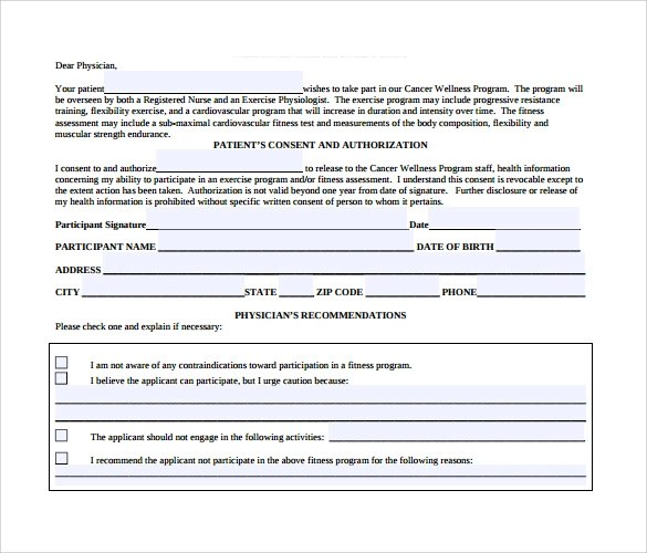 Medical Clearance Form - 12+ Free Samples , Examples , Format - medical form in pdf