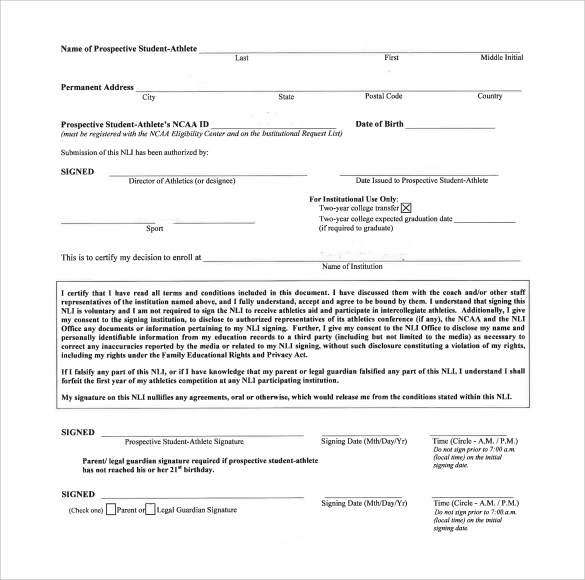 Sample National Letter of Intent - 7+ Free Documents in PDF, Word