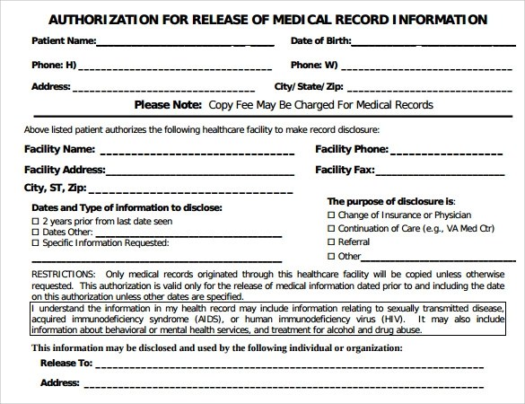 Medical Records Release Form - 10+ Free Samples, Examples, Format
